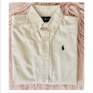 Ralph Lauren Kids Dress Shirt Tan
